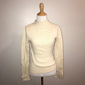 Delicate Vntg Ben Sheman Lambswool White Sweater